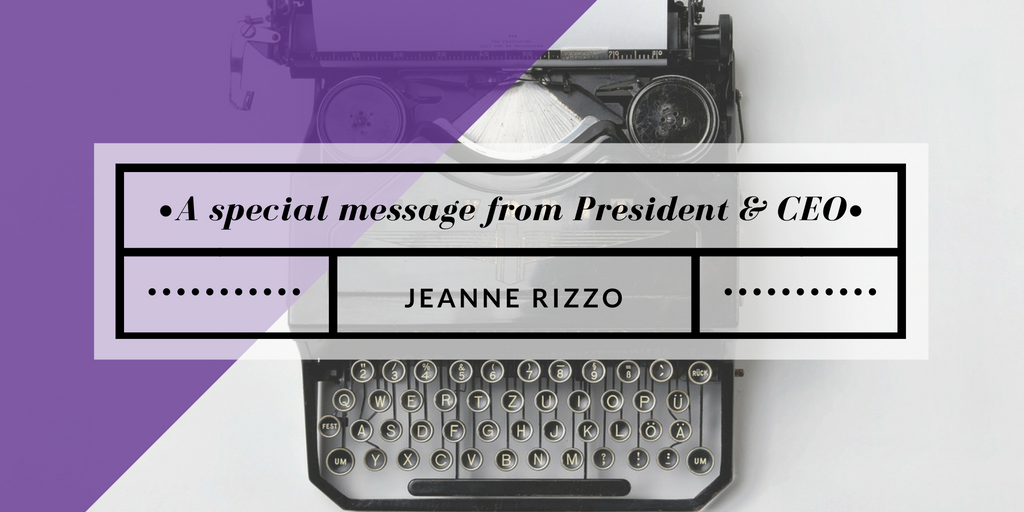 A special message from Jeanne Rizzo
